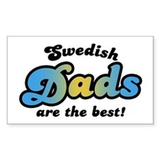 Swedish Dad Rectangle Decal