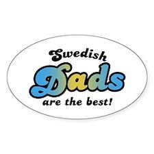 Swedish Dad Oval Decal
