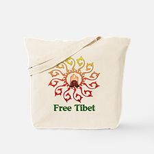 Free Tibet Candle Tote Bag