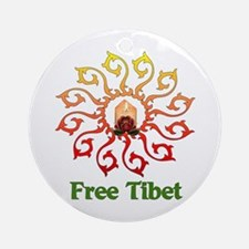 Free Tibet Candle Ornament (Round)
