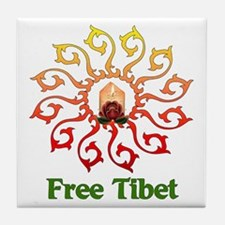 Free Tibet Candle Tile Coaster