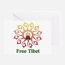 Free Tibet Candle Greeting Card
