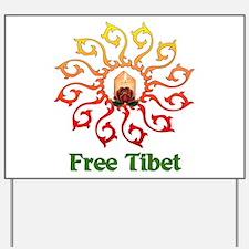Free Tibet Candle Yard Sign