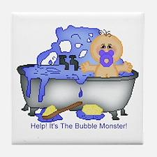 Help! Bubble Monster! Tile Coaster