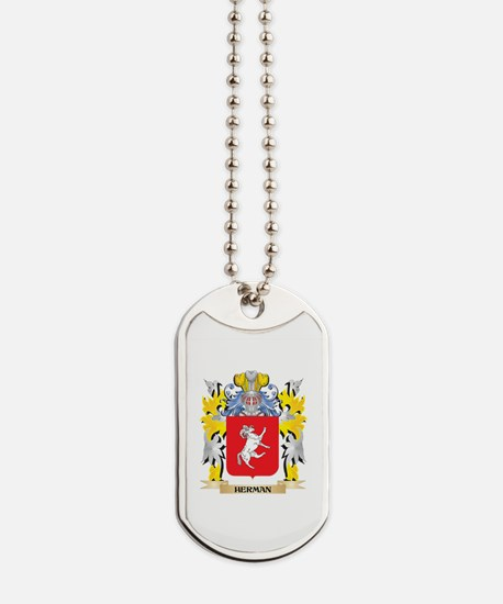 Herman Coat of Arms - Family Crest Dog Tags