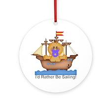 I'd Rather Be Sailing! Keepsake (Round)