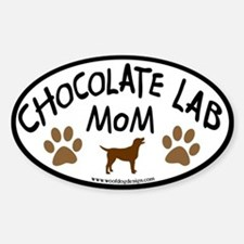 chocolate lab mom oval Oval Decal