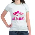 Pink Kiss Maid of Honor Jr. Ringer T-Shirt