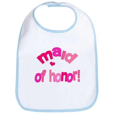 Pink Kiss Maid of Honor Bib