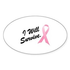 I Will Survive (BC SS) Oval Decal
