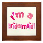 Pink Kiss Bridesmaid Framed Tile