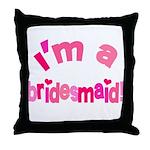 Pink Kiss Bridesmaid Throw Pillow