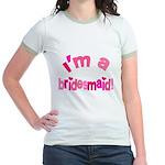 Pink Kiss Bridesmaid Jr. Ringer T-Shirt