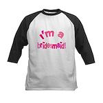 Pink Kiss Bridesmaid Kids Baseball Jersey