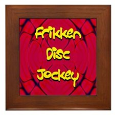 Frikken Disc Jockey Framed Tile