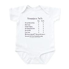 Fibromyalgia vs. The Flu Infant Bodysuit