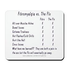 Fibromyalgia vs. The Flu Mousepad