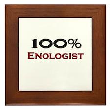 100 Percent Enologist Framed Tile