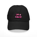 Pink Kiss Bridesmaid Black Cap