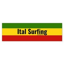 Ital Surfing Bumper Bumper Sticker
