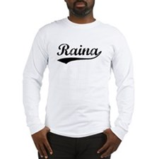 Vintage Raina (Black) Long Sleeve T-Shirt