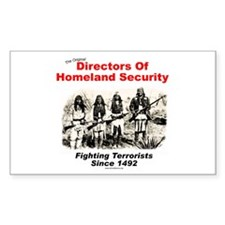 Homeland Security Since 1492 Rectangle Decal