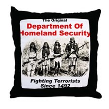 Dept. Of Homeland Security - Since 1492 Throw Pill