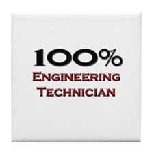 100 Percent Engineering Technician Tile Coaster