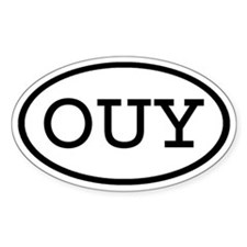 OUY Oval Oval Decal