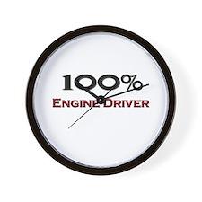 100 Percent Engine Driver Wall Clock