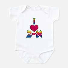 I love Alef Infant Bodysuit