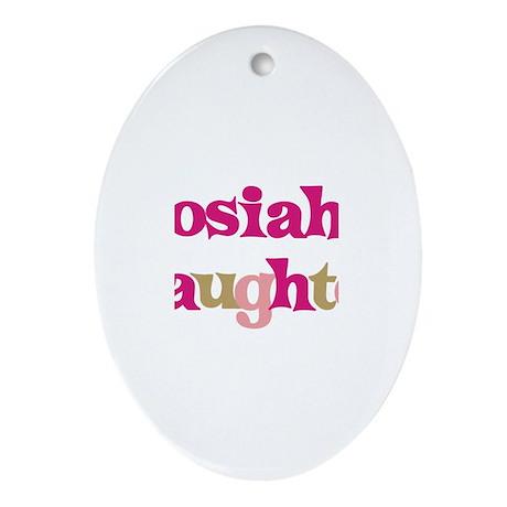 Josiah's Dad Oval Ornament