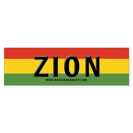 Zion Rasta Bumper Sticker (10 pk)