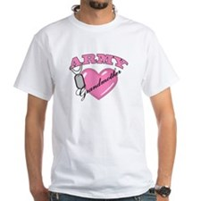 Army Grandmother Pink Heart N Dog Tags Shirt