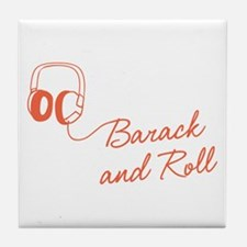 Barack and Roll Tile Drink Coaster