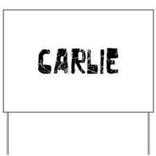 Carlie Faded (Black) Yard Sign