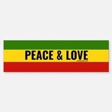 Peace and Love Rasta Bumper Bumper Bumper Sticker