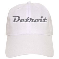 Detroit Motor City retro chrome Cap