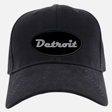 Detroit Motor City retro chrome Baseball Cap