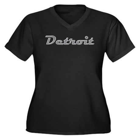Detroit Motor City retro chrome Women's Plus Size