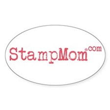 StampMom Rose Oval Decal