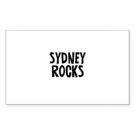 Sydney Rocks Rectangle Sticker