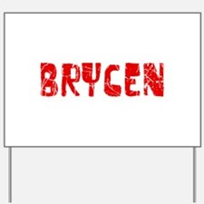 Brycen Faded (Red) Yard Sign