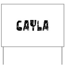 Cayla Faded (Black) Yard Sign