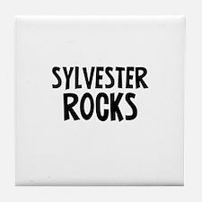 Sylvester Rocks Tile Coaster