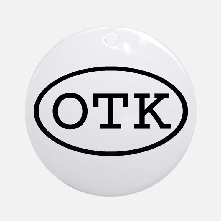 OTK Oval Ornament (Round)