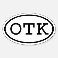 OTK Oval Oval Decal