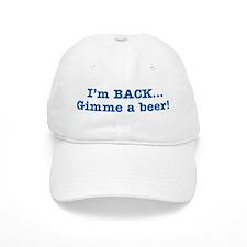 I'm BACK Quote - Blue Baseball Cap