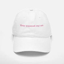 Cat Scanned Quote - Pink Impr Baseball Baseball Cap