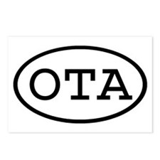 OTA Oval Postcards (Package of 8)